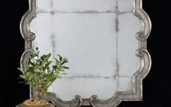 Distressed Silver Mirror