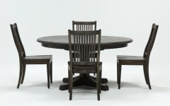 Valencia 5 Piece Round Dining Sets With Uph Seat Side Chairs