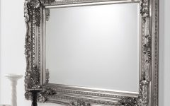 Baroque Mirror Silver