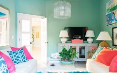 Vibrant and Energetic Look Living Room With Colorful Theme