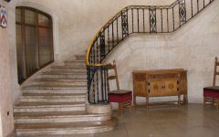 Victorian Staircase With Marble Flooring