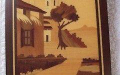 Italian Inlaid Wood Wall Art