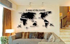 Wall Art Map of World