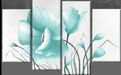 Duck Egg Blue Canvas Wall Art
