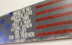 Red White and Blue Wall Art