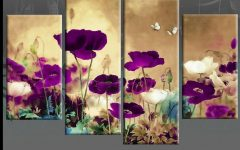Plum Coloured Wall Art