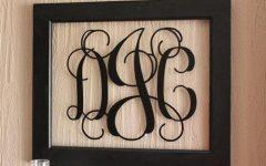 Framed Monogram Wall Art