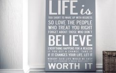 Large Canvas Wall Art Quotes