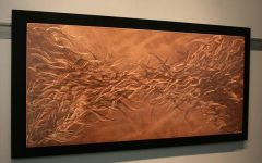 Abstract Copper Wall Art