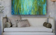 Blue Green Abstract Wall Art