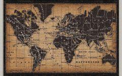 Framed World Map Wall Art