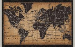 World Map Wall Art Framed