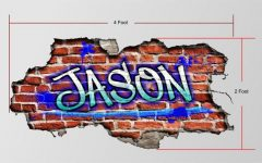 Personalized Graffiti Wall Art