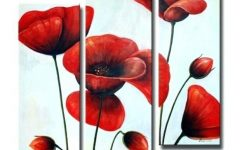 Metal Poppy Wall Art