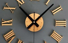 Large Art Deco Wall Clocks