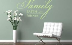 Faith Family Friends Wall Art