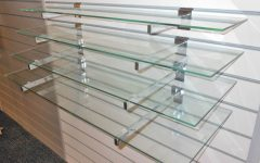 Wall Mounted Glass Display Shelves