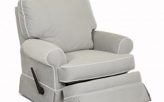 Katrina Grey Swivel Glider Chairs