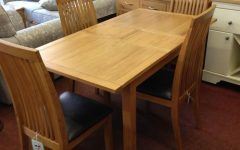 Oak Extending Dining Tables and 4 Chairs