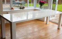 Large White Gloss Dining Tables