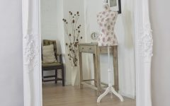 Large Shabby Chic Mirror White