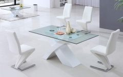 Glass and White Gloss Dining Tables