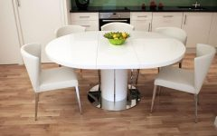 White Gloss Round Extending Dining Tables