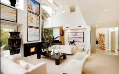 White Color Schemes for Contemporary Living Room