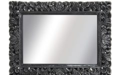 Large Black Vintage Mirror