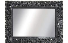 Large Black Vintage Mirror