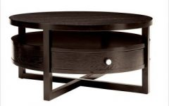 Round Coffee Tables With Drawer