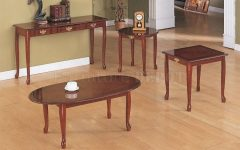 Cherry Wood Coffee Table Sets