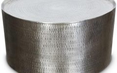 Hammered Silver Coffee Tables