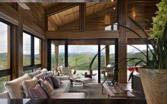 Wood House Living Room Interior Design