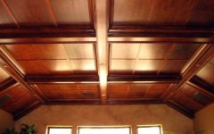 Wood Grid Ceiling Design 2015