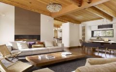 Wooden Materials for Living Room Ceiling