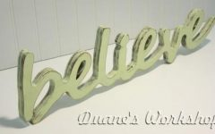 Wooden Word Wall Art