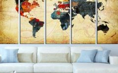 Large World Map Wall Art
