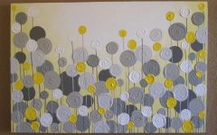 Yellow Grey Wall Art