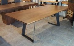 Acacia Dining Tables With Black Victor-Legs